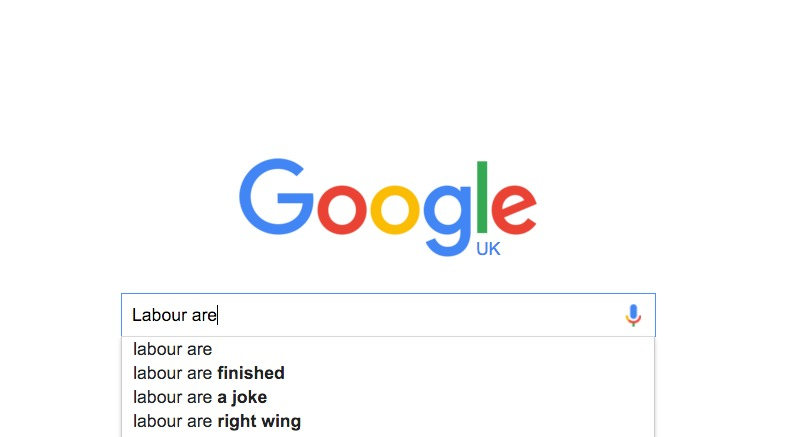 Google Auto Complete Yields weird results